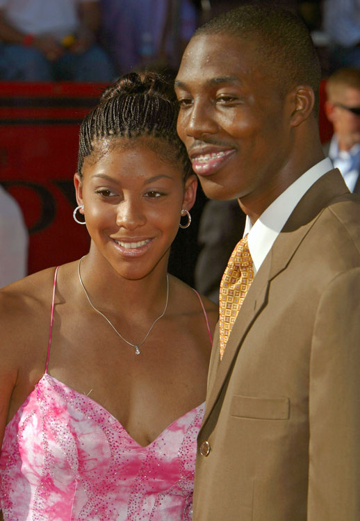 Howard and fellow Naismith and Gatorade Player of the Year Candace Parker shared the red carpet at the 2004 ESPYs.