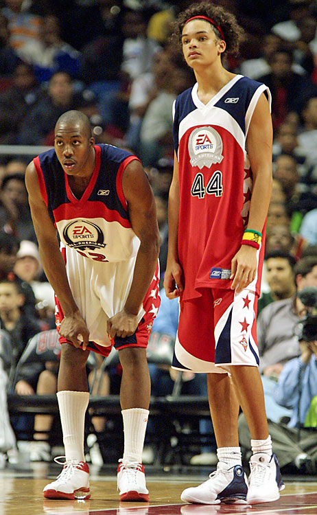 Howard also played alongside current Chicago Bulls center Joakim Noah at the EA Sports Roundball Classic in Chicago in 2004.