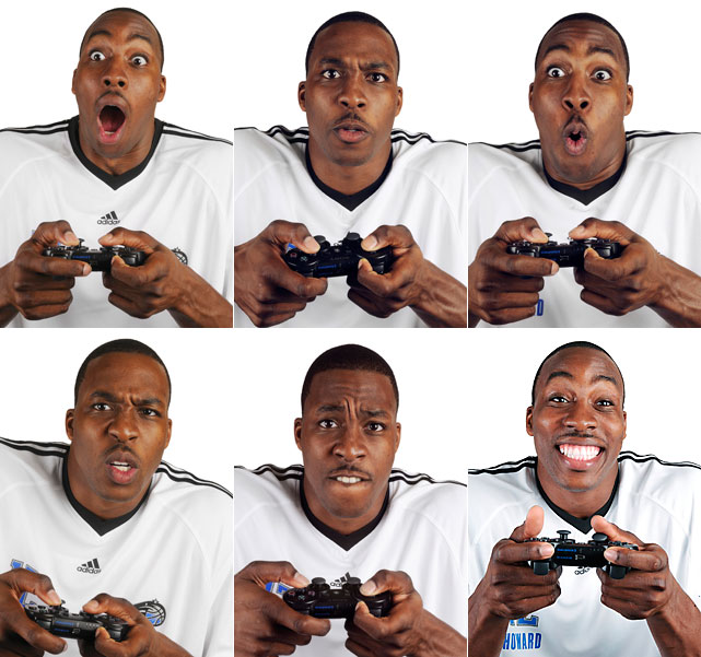 The many faces of Dwight Howard, courtesy of the  SI Kids  2009 video game issue. The All-Star was on the cover of  NBA Live 10  and has said his two loves are basketball and video games.