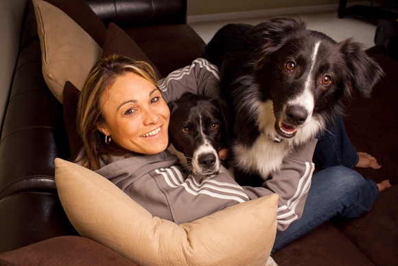 Bevilaqua, a guard for the Indiana Fever, adopted two dogs: Chips and Aussie. She got Chips from a local humane society and Aussie from a family that could no longer take care of him.