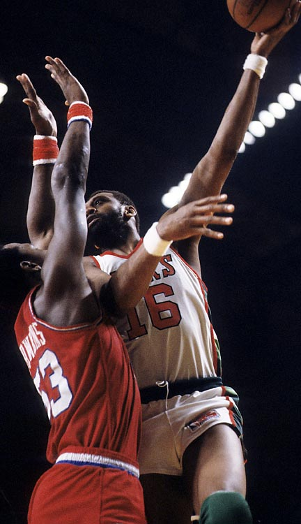 A six-time NBA All-Star, Lanier's No. 16 jersey hangs in the rafters in Detroit and Milwaukee, where he starred to the tune of 19,248 career points.