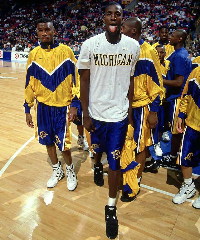 KG starred at Farragut Career Academy in Chicago, where he led the squad to a 28-2 record his senior season and earned National High School Player of the Year honors. Though the T-shirt may indicate that he had dreams of playing in Ann Arbor, he instead chose to enter the NBA straight out of high school.
