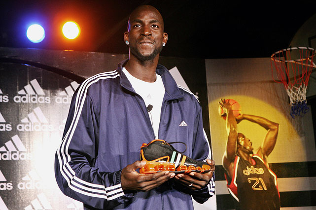 Garnett travels to New Delhi to debut his limited edition 'Adidas KG basketball shoe.'