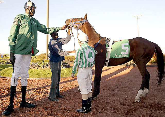 Bol's desire to raise money for Sudan next took him to Hoosier Park in Anderson, Ind., where he became the tallest jockey ever licensed by the Indiana Horse Racing Commission.