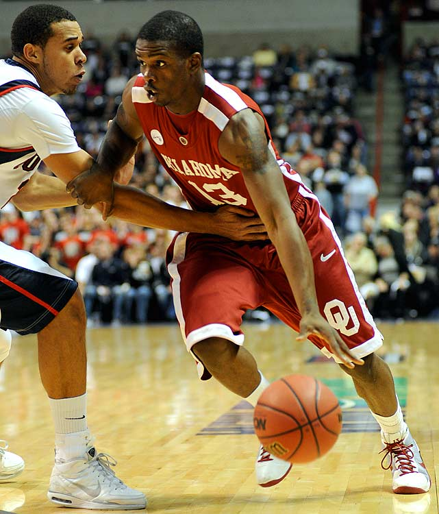 <p>Oklahoma -- Sophomore<br > 20 years old<br > 6-4, 200 pounds <br ><br > Talented shot-creator and overall perimeter scorer.</p>