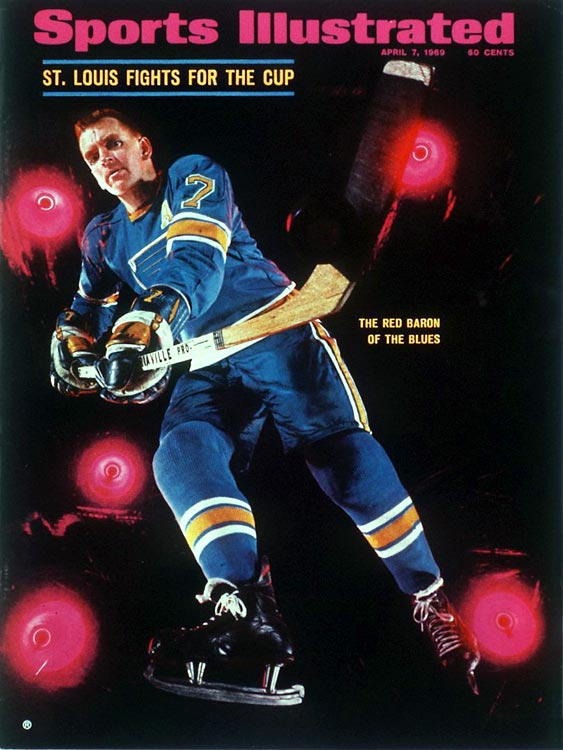 It can be startling to see that the Blues reached the Cup final for three straight years, but after the NHL expanded by six teams in 1967, someone from the newly-formed West Division (Philadelphia, LA, St. Louis, Minnesota, Pittsburgh, Oakland) had to go. The Blues, with such creaking stars as Red Berenson, Glenn Hall, Dickie Moore and Doug Harvey, got past the top seed Flyers and fourth-seed North Stars in hard-fought seven-game series in '68 only to be swept by mighty Montreal, who got out the broom again in '69. The third time wasn't the charm as Bobby Orr's iconic flying goal completed Boston's sweep of the Blues in the '70 final.