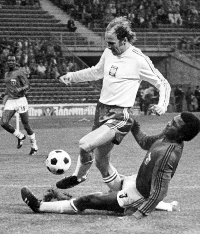 Lato played in the '74, '78  and '82 World Cup with Poland but never reached the heights of his first World Cup, in which he scored seven times.