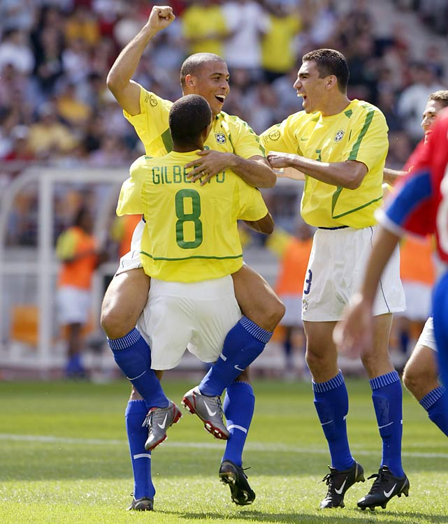 Ronaldo had scored four goals in the previous tournament and added to that by notching eight as he led the Selecao to triumph in the South Korea/Japan World Cup.