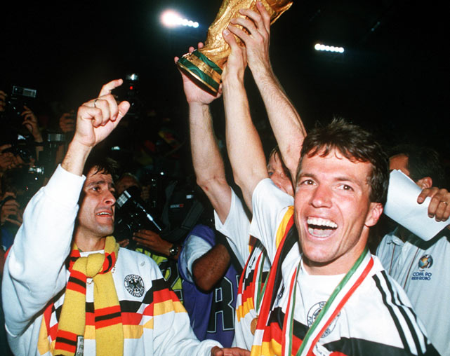 In a rematch of the '86 final, West Germany got the best of Argentina 1-0 in a physical match (an appropriate finish to a rough-and-tumble tournament short on goals) in Italy.