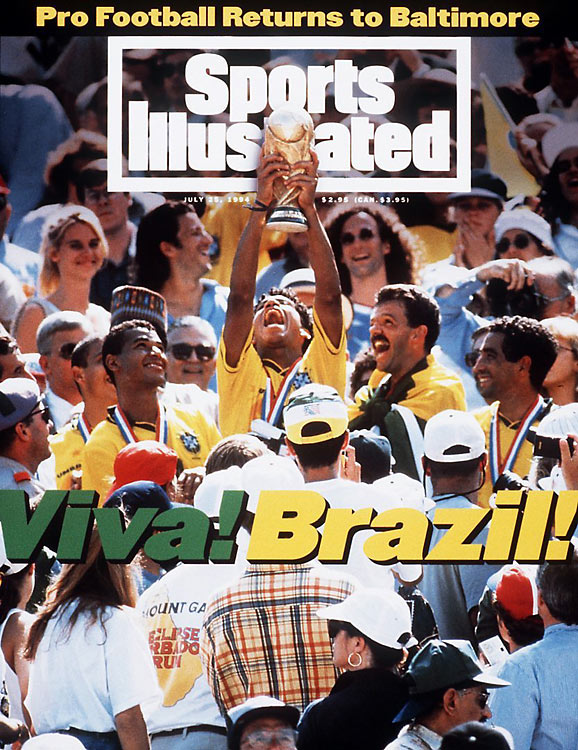 <p>Brazil and Italy played a mediocre final in the first tournament hosted by the United States, with the Brazilians winning in a penalty shootout after a 0-0 finish following extra time. Brazil became the World Cup's first four-time winner.</p>