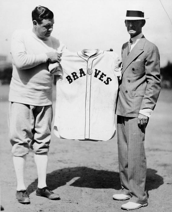 In a 11-7 loss to Pittsburgh, Boston Braves RF Babe Ruth hits three homers and a single. Ruth's seventh-inning solo shot off Gary Bush, which travels over 600 feet and clears the roof, will be the Bambino's 714th and final home run.