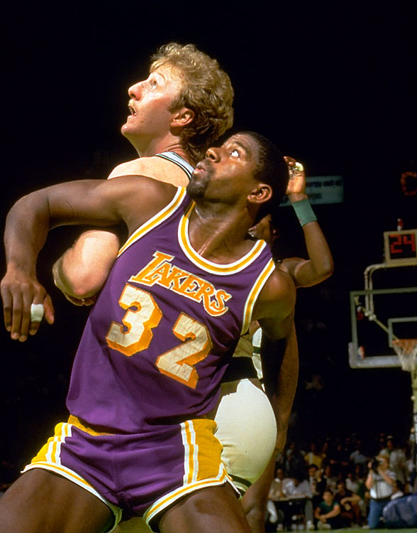 After a sluggish first half, Magic Johnson posted 16 points, 19 assists and eight rebounds while Kareem Abdul-Jabbar -- sporting a freshly shaven dome -- put up 32 points to lead all scorers. Behind their two horses, the Lakers put the Celtics away in the fourth and cruised to a 106-93 victory and the team's fourth NBA title of the decade.