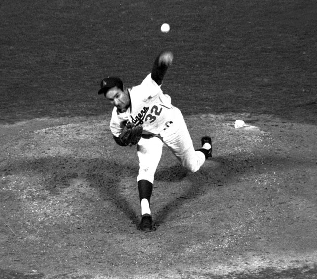 The most dominant pitcher of the '60s already had three no-hitters under his belt. His fourth and final no-hitter turned out to be a perfect game against the Chicago Cubs on a Thursday night in Los Angeles during the 1965 season. The Dodgers parlayed one hit to victory -- which set a record for least amount of hits during a nine-inning game by both teams. He struck out 14 batters, including Harvey Kuenn to end the game -- the same man Koufax retired for the final out of his 1963 no-hitter.
