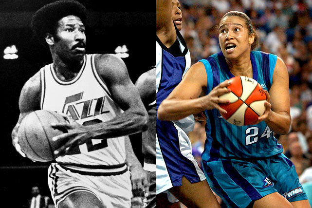 Natalie, who didn't meet her father until she was 16, was the first woman to earn All-America honors in both basketball and volleyball in the same year while at UCLA.