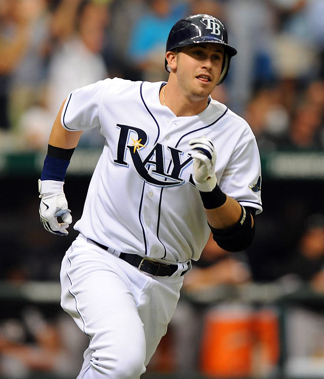The Rays elected to keep Longoria in the minors at the start of the season, but waited barely two weeks before promoting the No. 3 overall pick of the 2006 draft. Longoria hit sixth and went 1-for-3, the highlight of the day coming when his ground ball to the left side dribbled into left field, scoring B.J. Upton for his first career hit and RBI. Longoria went on to win the AL Rookie of the Year award.