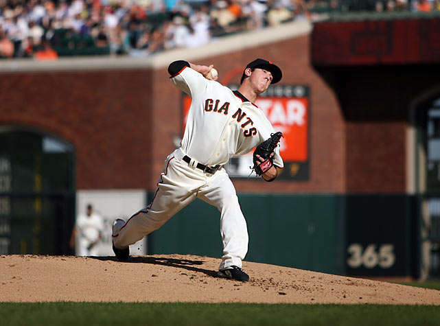 Lincecum's multiple-Cy Young winning career began with a start opposite Philly's Cole Hamels, who came away with the win. Lincecum avoided the loss, though, lasting just 4.1 innings and giving up five earned runs, including homers to Shane Victorino and Ryan Howard.