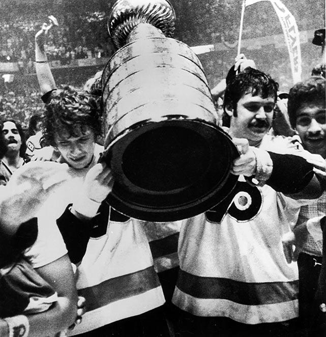 After the NHL expanded from its Original Six to 12 teams in 1967, the new St. Louis Blues reached the Stanley Cup Final each year from 1968-70 only to be swept each time. Four years later, Bobby Clarke's famed -- or is it infamous? -- Broad Street Bullies became the first expansion team to win the Cup, beating Boston in six.