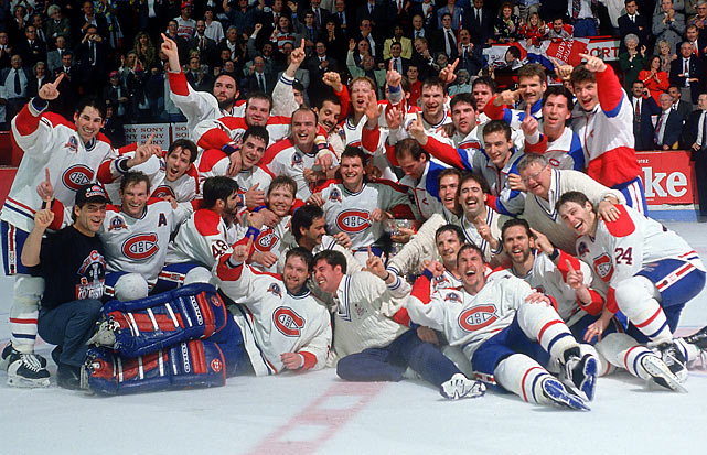 Patrick Roy backstopped Montreal's last (to date) Cup and extended the franchise's record total to 24. The Canadiens remain the last Canadian team to win the championship.