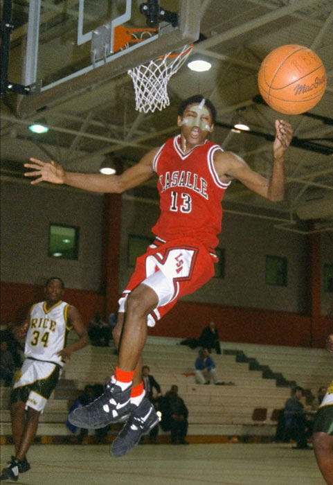 Ron Artest was born and raised in the Queensbridge projects in Queens, N.Y. He played high school ball at La Salle Academy, a private school in Manhattan, where he was a McDonald's All-America selection and New York City's Co-Player of the Year after leading his team to a 27-0 record.