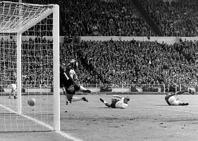 The go-ahead goal from England's Geoff Hurst was controversial as West Germany argued that the ball did not cross the line.