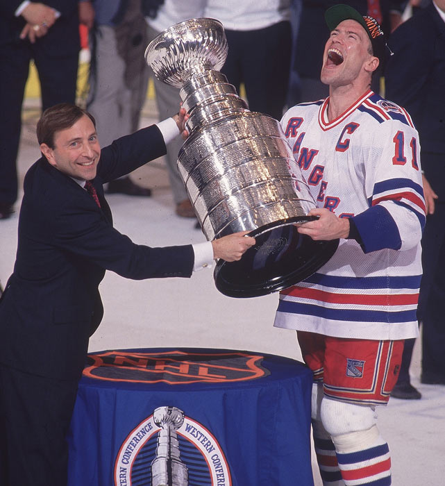 The New York Rangers win the Stanley Cup by defeating the Vancouver Canucks, breaking a 54-year slump since last winning the title.