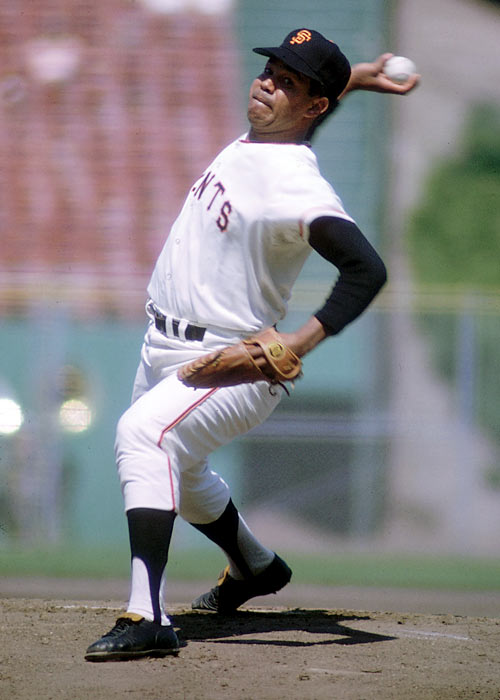 In his major league debut for the San Francisco Giants, Juan Marichal takes a no-hitter through 7 2/3 innings, finishing with a one-hit shutout. He struck out 12 hitters while walking just one.