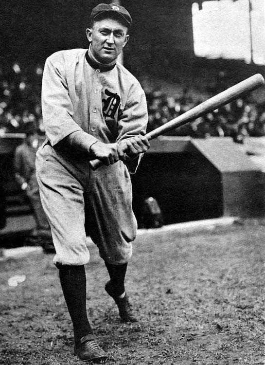 The Tigers were loathed precisely because of one man: Tyrus Raymond Cobb, arguably history's most hated athlete during his playing days. Cobb, still only 22, led the Tigers to their third straight World Series (they had lost the previous two to the Cubs!) by winning the Triple Crown (.377, 9 HRs, 107 RBIs), including nine inside-the-park homers. His ornery nature and sharpened spikes (he gashed the arm of popular A's third baseman Frank Baker) prompted widespread hate for the Tigers. Cobb often received telegraphed death threats.
