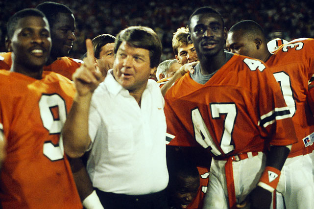 For these Hurricanes, the path toward hatred started the previous season, when coach Jimmy Johnson was accused of running up the score in a 58-7 Orange Bowl victory against Notre Dame. By the time its players arrived wearing combat fatigues for the 1987 national championship game, Miami's outspoken, provocative style had run its course with casual college football fans.