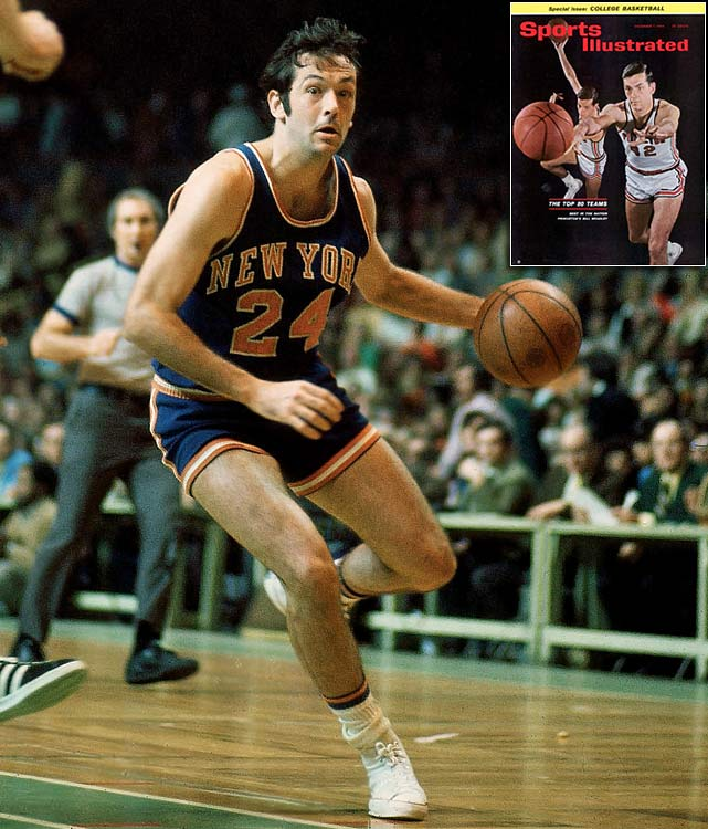 Before becoming a U.S. senator and a candidate for the Democratic party's presidential nomination, Bill Bradley won two NBA titles with the Knicks during his 10-year Hall of Fame career. That decade run with New York followed a collegiate career in which he was a three-time All-America, helped the U.S. win a gold medal at the 1964 Olympics, led Princeton to the 1965 Final Four and that same year won the Sullivan Award as the nation's top amateur athlete.