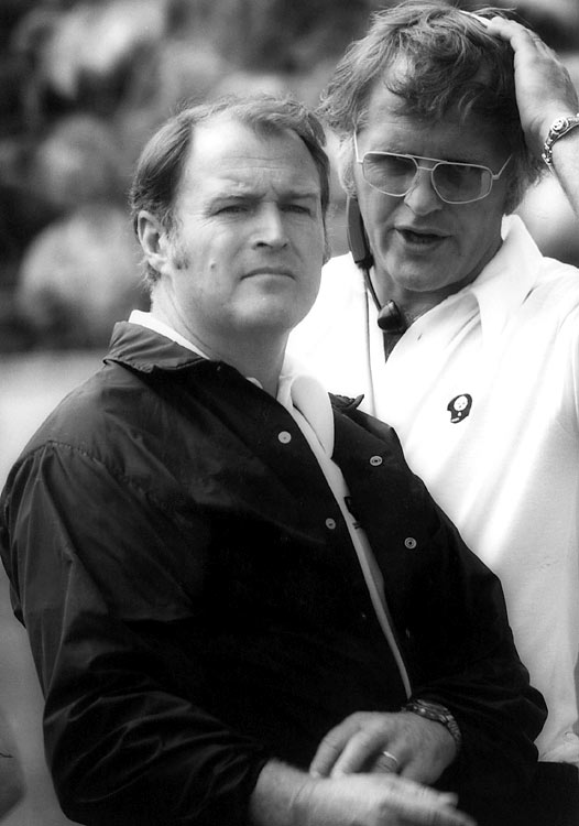 Chuck Noll led the Steelers to their second consecutive Super Bowl title in '75; he finished his career with a record-four Super Bowl championships.