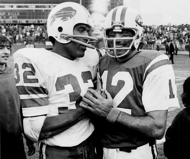 Talk about a breakfast of champions: O.J. (Simpson) and Joe (Namath) got together here at Shea Stadium.