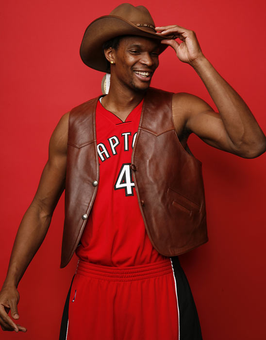 Bosh gets back to his Texas roots during a SI photo shoot.