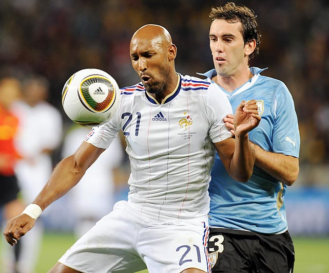 The 2006 runner-up had a short, eventful stay in South Africa: Its federation expelled Nicolas Anelka after he swore at coach Raymond Domenech during halftime of a loss to Mexico. The players then refused to train in solidarity for Anelka, would not allow the coach on the team bus and then made him read a statement on their behalf criticizing his bosses. France finished last in Group A with one point from three matches.