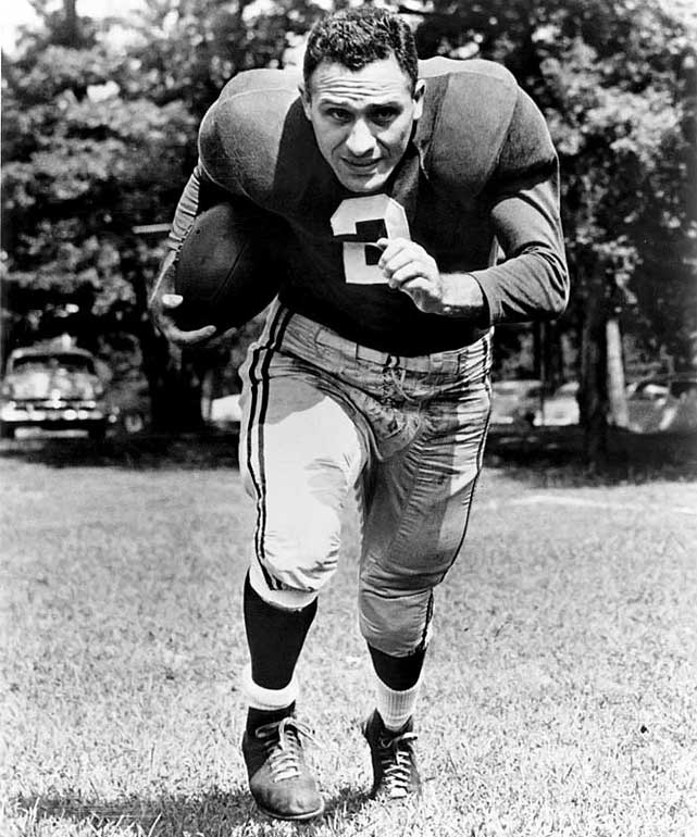 <p>The Hall of Fame halfback was a two-time Pro Bowl selection and a member of the NFL's 1940 All-Decade team. He played his entire NFL career for the Chicago Cardinals and scored a pair of touchdowns in Chicago's 28-21 win in the 1947 NFL Championship.</p><p>Runner-up: David Akers</p><p>Worthy of consideration: Steve Christie</p>