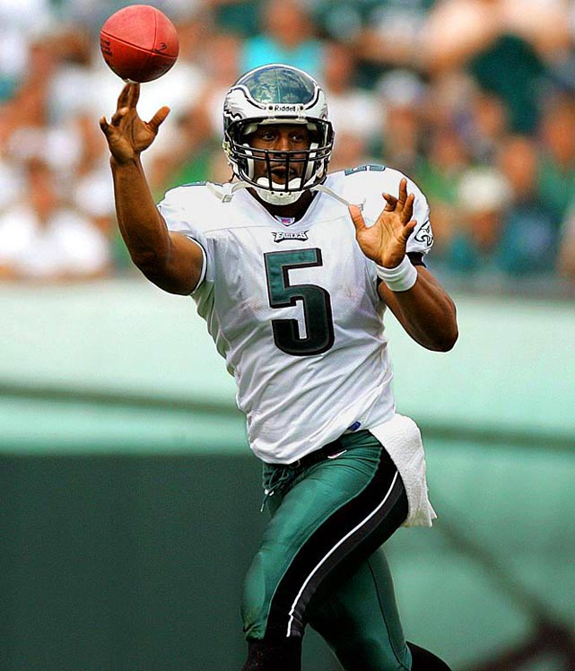<p>McNabb was the face of the Eagles franchise for a decade before moving to Washington this offseason. A six-time Pro Bowler with five NFC Championship games on his resume, he is one of six quarterbacks to have both 25,000 passing yards and 3,000 rushing yards.</p><p>Runner-up: Paul Hornung</p><p>Worthy of consideration: Morten Andersen (Atlanta), Jeff Garcia, George McAfee</p>