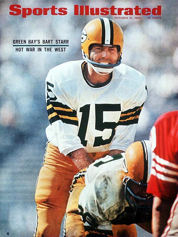 <p>The great conductor of the Packers offense, Starr won NFL Championships in 1961, 1962, 1965, 1966 and 1967. He was named MVP of the first two Super Bowls.</p><p>Runner-up: Steve Van Buren</p><p>Worthy of consideration: Jack Kemp, Earl Morrall, Jim Turner</p>
