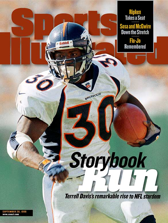<p>The initials (T.D.) fit: Davis ran for a franchise-best 7,607 rushing yards and 60 touchdowns during his eight seasons in Denver. He was the NFL MVP in 1998 and helped lead the Broncos to a pair of Super Bowl titles.<strong> </strong></p><p>Runner-up: Bill Willis</p><p>Worthy of consideration: Ahman Green, Lawrence McCutcheon, Brian Mitchell, Mark Van Eeghen</p>