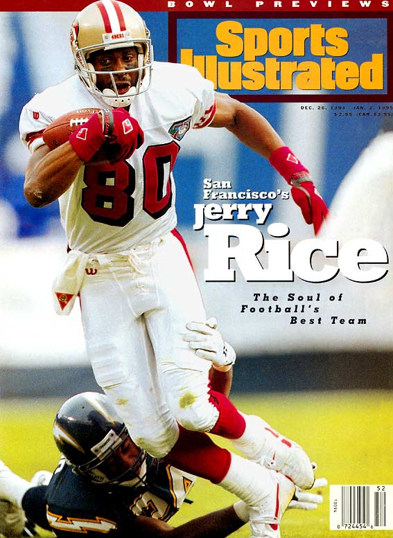 <p>The NFL's career leader in receptions (1,549), yards (22,895) and touchdowns (208), Rice was a key member of three Super Bowl champions as a Niner.</p><p>Runner-up: Steve Largent</p><p>Worthy of consideration: Issac Bruce, Cris Carter, Cris Collinsworth, Henry Ellard, Irving Fryar, Andrew Johnson, James Lofton, Kellen Winslow </p>