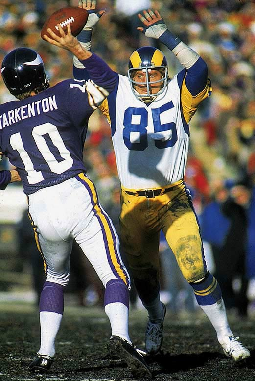 <p>Hall of Fame defensive end was a seven-time Pro Bowl pick in 14 seasons with the Los Angeles Rams (1971-84). Tough and durable, he played 201 straight games -- and all of Super Bowl XIV despite a broken left leg.</p><p>Runner-up: Nick Buoniconti</p><p>Worthy of consideration: Julius Adams, Mark Duper, Antonio Gates, Mel Gray, Chad Ochocinco, Wesley Walker</p>