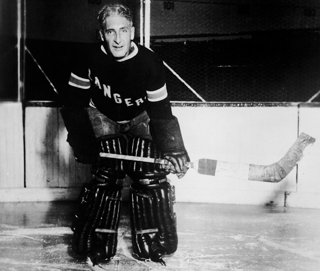 The Hall of Fame defenseman, who spent the bulk of his 21-year professional career in the ECAHA (Montreal Wanderers), PCHA (Victoria Aristocrats, Spokane Canaries, Seattle Metropolitans) and WHL (Victoria Cougars) suited up for one regular season and one playoff game with the New York Rangers in 1926-27. Most famously, he coached them for 13 seasons, even coming off the bench at age 44 to play goal for a game in the 1928 Stanley Cup Final after starter Lorne Chabot was injured.