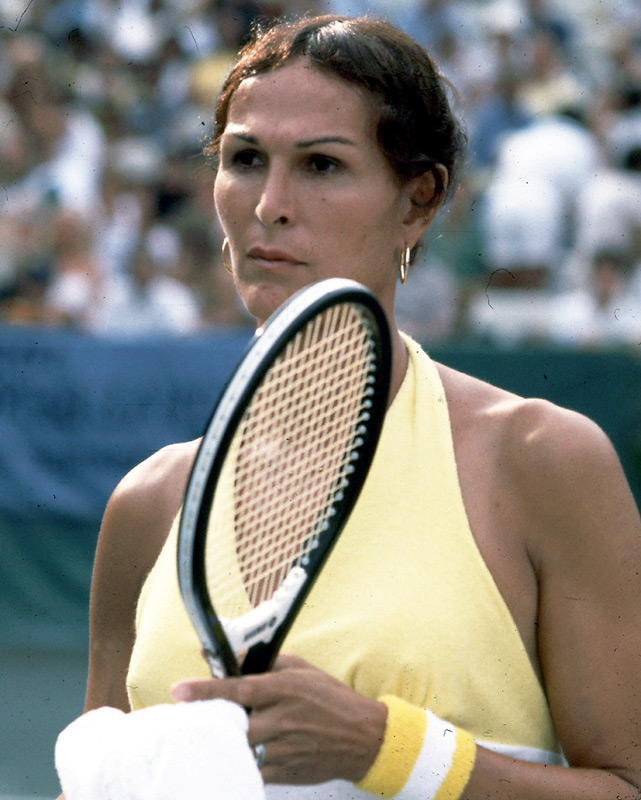Renee Richards, a 43-year-old transsexual who fought for more than a year for the right to play in the women's singles of a major championship, is beaten in the first round by Virginia Wade, 6-1, 6-4.  Richards debuted at the U.S. Open in 1960 as Richard H. Raskind.
