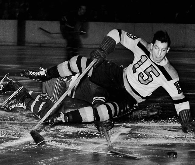 It would have been nice to honor the Rocket for his rookie sweater, but it's impossible to overlook Schmidt's nearly 15 seasons of two-way excellence that included the 1939-40 scoring title, leading the Bruins to the Stanley Cup in 1941, and winning the 1950-51 Hart Trophy. He would have done even more if he hadn't spent four years in the Canadian Air Force during World War II.