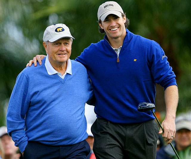 Golf legend Jack Nicklaus played with Brees last March at the Honda Classic Kenny G Gold Pro-Am. The event was held at the PGA National Resort and Spa in Palm Bach Gardens.