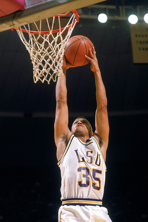 Chris Jackson, later known as Mahmoud Abdul-Rauf, might be the best freshman of all time. In the third game of his LSU career, he scored 48 points. Two games later, he scored a NCAA freshman-record 53 points. With several other LSU players suspended as a result of Prop 48, coach Dale Brown turned Jackson loose, allowing the freshman to use his blinding speed in the open court. The result? Jackson was the first freshman to be named SEC Player of the Year and was also given first-team All-America honors.
