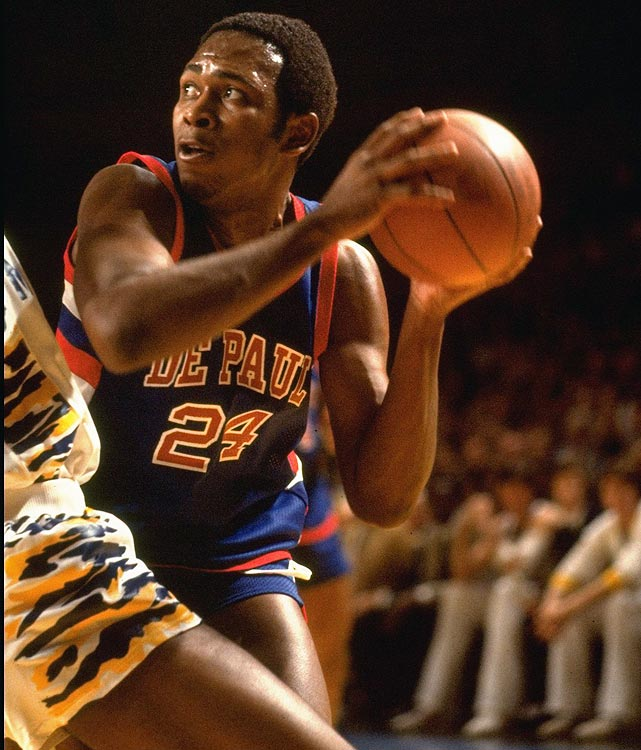 An often-unstoppable scorer, Mark Aguirre led a DePaul squad, which featured only one other future-NBA player, to the Final Four in 1979. Aguirre would later go on to win the AP and Naismith College Player of the Year awards as a sophomore, but he would not advance past the second round of the NCAA tournament again.