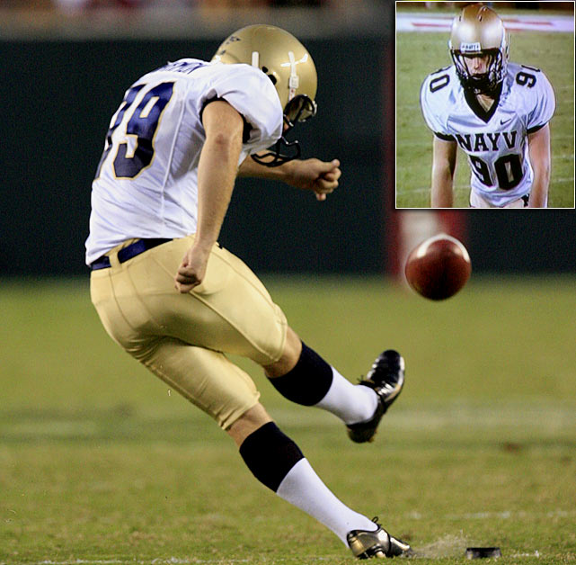 As if kickers don't have enough trouble getting respect, Matt Harmon had to wear a misspelled Navy jersey during a 2006 game in Stanford.