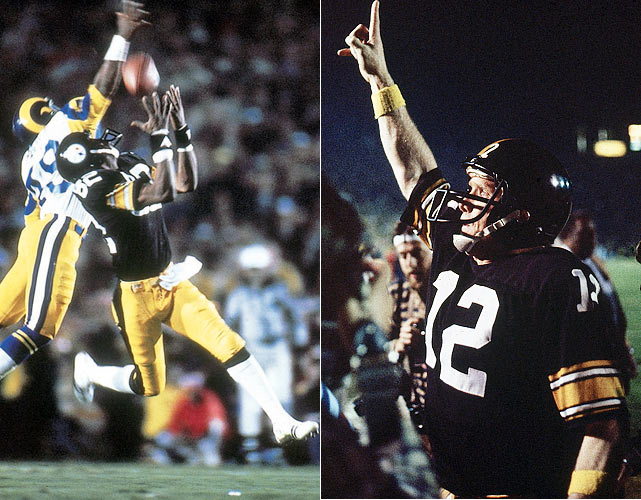 The heavily favored Steelers defeated the Rams 31-19 in Super Bowl XIV to win their fourth Super Bowl in team history. Terry Bradshaw threw for 309 yards and two touchdowns to become the second quarterback since Bart Starr to win Super Bowl MVP awards in back-to-back Super Bowls.