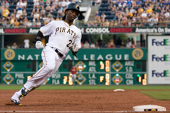 McCutchen victimizes opponents with his blazing speed. His quickness helped him collect 33 stolen bases in 2010, fifth in the NL. Poised for another strong year, the all-around center fielder is also patient at the plate, walking 70 times last year. The 24-year-old's agility and ability to get on base will play a key role in sparking the lowly Pirates this season.