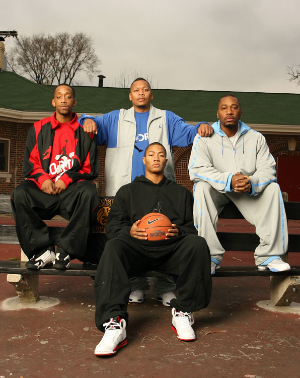 Derrick learned how to play from his older brothers Dwayne, Reggie and Allan.