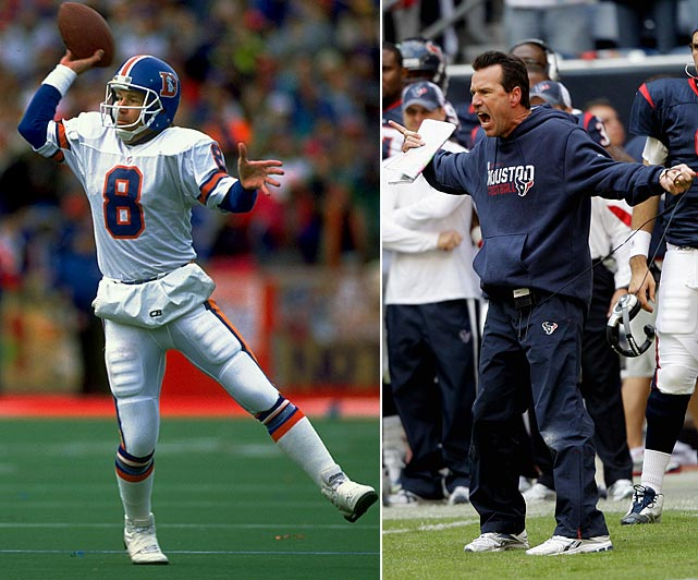 Drafted by the Broncos in the eighth round of the 1983 NFL draft, Gary Kubiak served as John Elway's backup for his entire career. After Kubiak retired, it seemed like his coaching career would follow a similar pattern. He served as the offense coordinator in Denver for 11 years, but in 2006 he was named the second head coach in Houston Texans history.